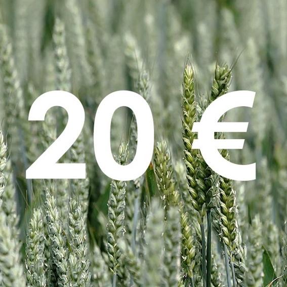 Gutschein über 20 € im Conflictfood Onlineshop