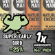 SUPER EARLY BIRD 1x Wunschsorte (16 Riegel)