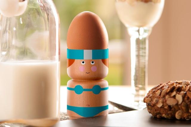 Eierbecher mit Köpfchen