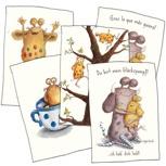 Postkarten-Set / Pack de postales (4postales diferentes)