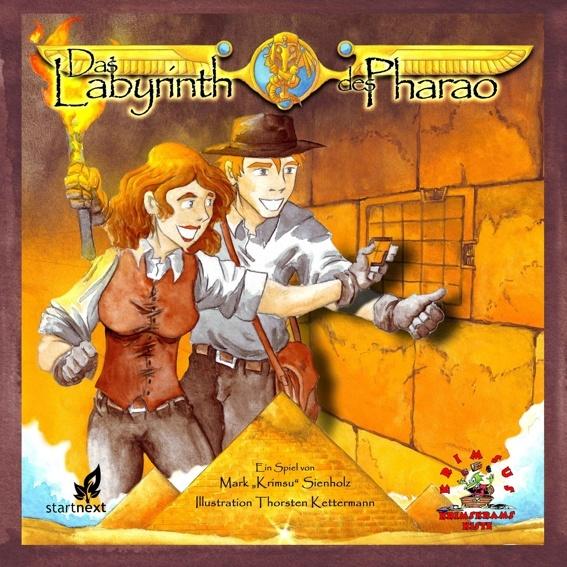 """Spiel """"Das Labyrinth des Pharao"""" + Aufkleberset + vom Autor signierte Dankeskarte + Namensnennung in Spielregel"""