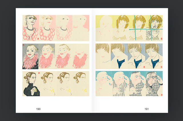 YUKI :: Book, all of woodcut Portraits of our friends & technics