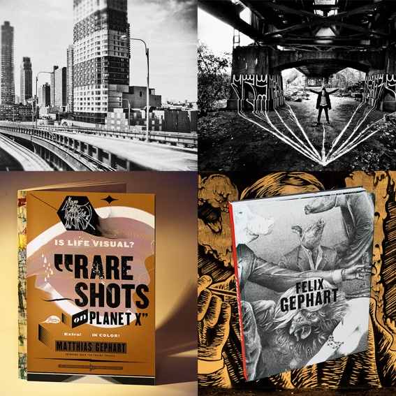 RARE SHOTS book, BROUGHT INTO LINE book and three large-size photographs of your choice