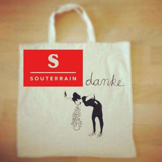 Jutebeutel mit Souterrain-Logo