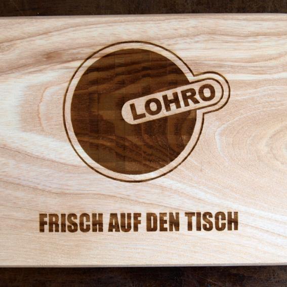 LOHRO-Frühstücksbrettchen, Dein Name auf unserer Homepage + Dein Name auf der Kunsttafel