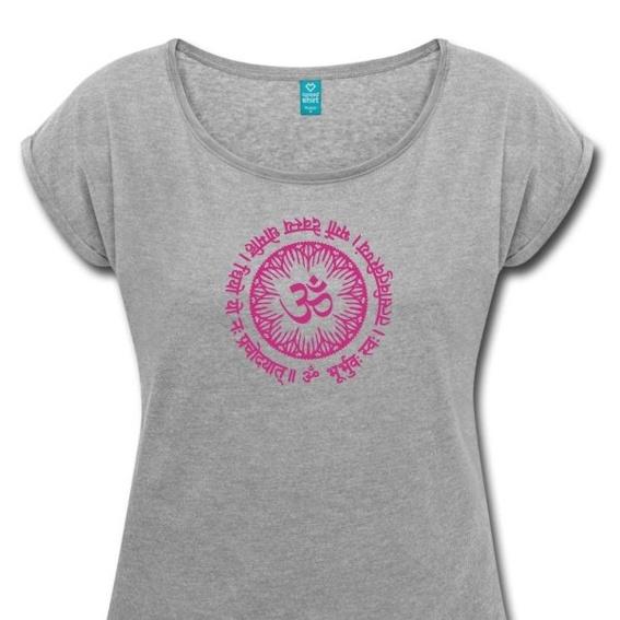 T - Shirt mit Druck des Logos Gayatri Mantra  Logo erstellt von Roman W