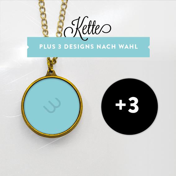 Kette VERGOLDET mit 3 Designs (Einführungspreis!)