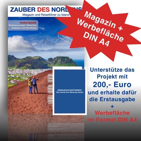 Für Firmen: Werde Sponsor der Erstausgabe und erhalte eine Werbefläche im DIN A4 Format