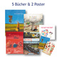 5 Bücher & 2 Poster