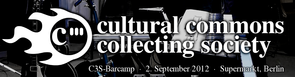 Barcamp der Cultural Commons Collecting Society (C3S)