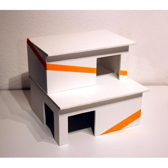 Modernes Doppelstock-Haus