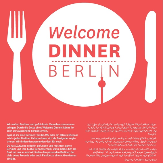 Print-Set: Welcome Dinner Plakat und Postkarte