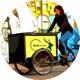 Ganzes Jahr Lastenradwerbung
