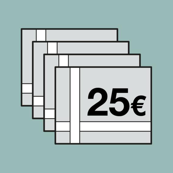 90 EUR für 100 EUR Gutscheinheft