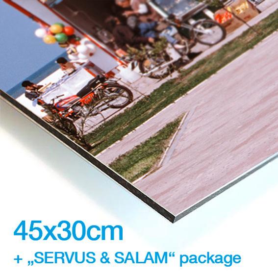 """LIMITIERTER PHOTOABZUG DEINER WAHL (45x30) + DAS """"SERVUS & SALAM"""" PAKET"""