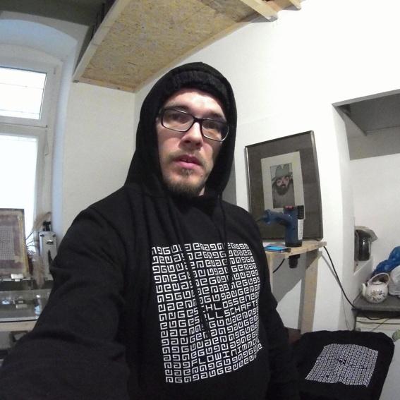 GG Hoodie Black DIY Print