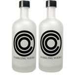 Zwei Flaschen Sparkling Vodka