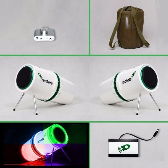 ROCKETZ SOUNDSYSTEM - Delux Crowdfunding Edition with Rucksack, lighting and battery pack