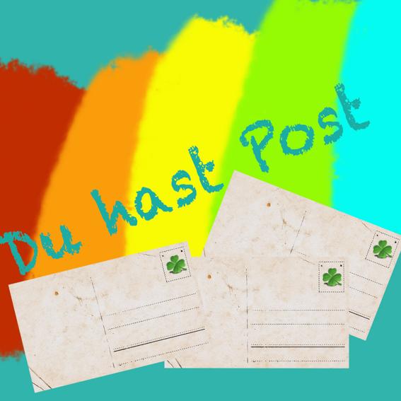 Glückspostkarte mit persönlichem Gruß