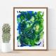 """Gemälde """"Schau auf die grüne Welt"""", Mischtechnik - Ernesta Puntigam"""