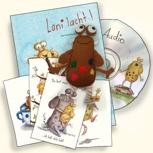Ein Glückspumpfset / Un Pumpfpack de la felicidad:libro,audiolibro-cd,pack de postales más Pumpf cosido a mano
