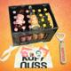 1 Kiste nach Wahl (Maracuja, Joh.beer oder Mix, 24 Flaschen) + gr. Jutebeutel + Flaschenöffner + Stickerset