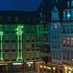 "Foto ""Green Pelican at Frankfurt Römerberg"""