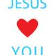 JESUS LOVES YOU POSTKARTE