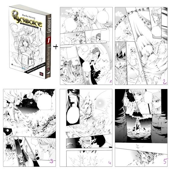 Grimoire Vol 1 Neuauflage + 1 Originalseite von Grimoire Vol.:4