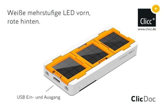 Neue Clicc-Solarprodukte ClicSwing und ClicDoc aus Berlin