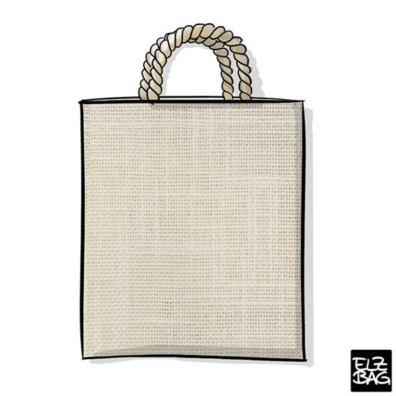 Textile bag natural