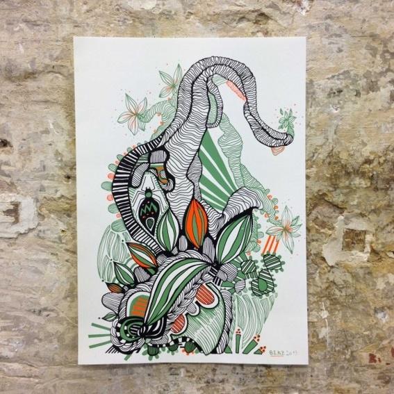 2. Runde Siebdruck A3 Plantarium
