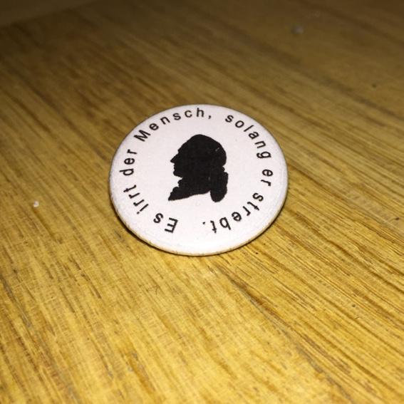 Button - Goethe Zitat 2