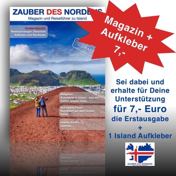 Magazin + Island Aufkleber