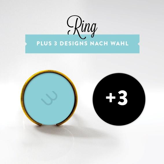 Ring VERGOLDET mit 3 Designs (Einführungspreis!)