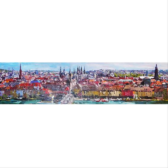 Panoramapostkarte Würzburg