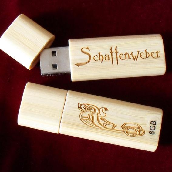 Schattenweber-Holz-Usb-Stick