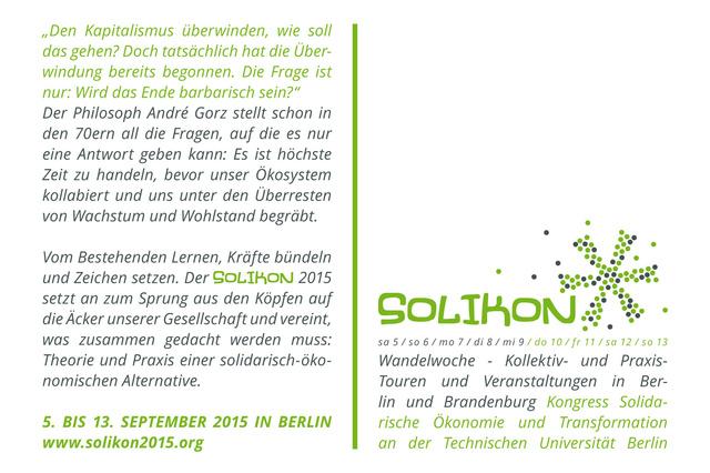 Solikon2015 - Kongress Solidarische Ökonomie und Transformation
