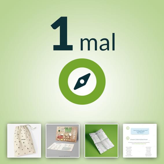 1 x Erzeuger-Jahresmitgliedschaft, Baumwollbeutel, Rezeptkarten, Saisonkalender & Virtuelle Spendentafel