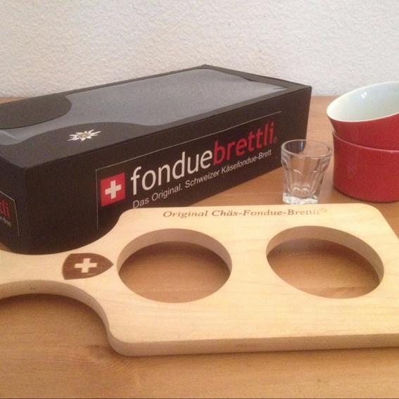 """Fondue-Brettli-Set """"Branding"""""""