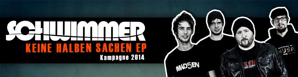 """Schwimmer """"Keine halben Sachen"""" EP Kampagne 2014"""