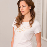 glückskind – women shirt creme meliert