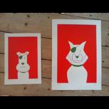 "Siebdrucke ""Hunde"" (Ulf K.), signiert/nummeriert + POLLE #1"