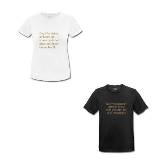 T Shirt Damen oder Herren mit Spruch
