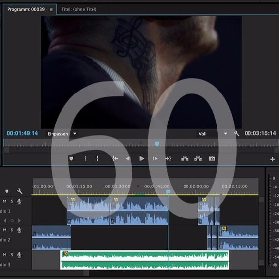 Filmvertonung bis 60 Minuten