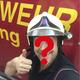 Gute Laune Feuerwehrmann/Frau