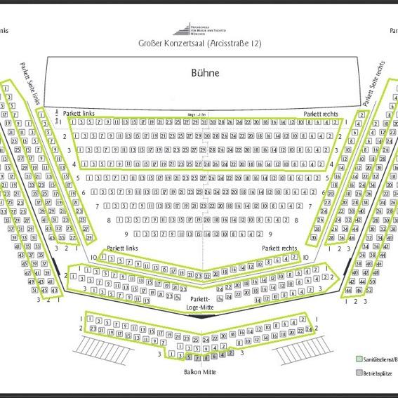 4-Personen-Platzgarantie für das geplante Konzert