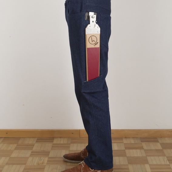 """Hose + Legs """"Bordeaux Shield"""""""