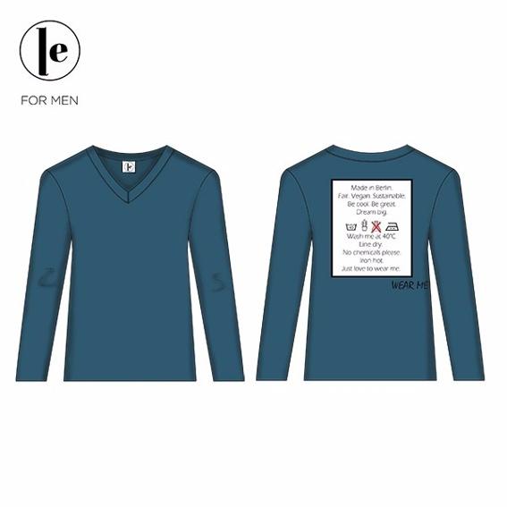 Pullover mit V-Ausschnitt und Siebdruck