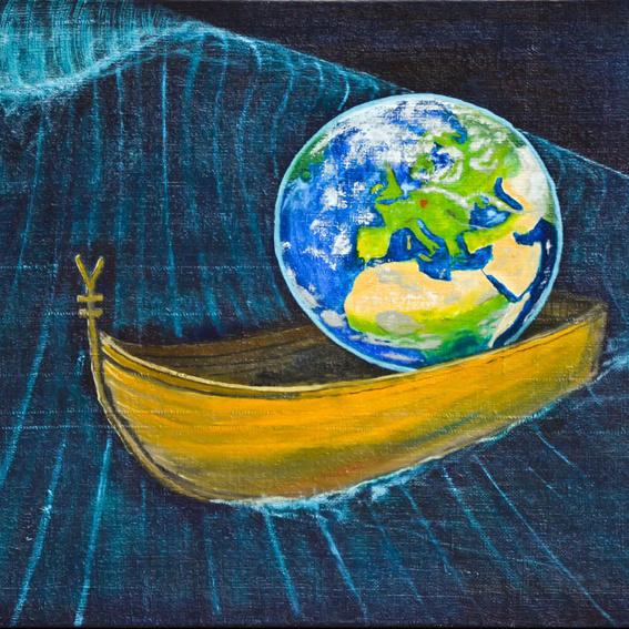 """""""Alle in einem Boot"""" Bild Nr.5 """"Fluchtwellen"""""""